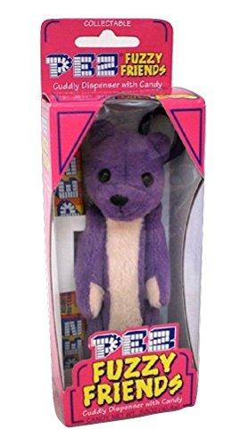 Pez Fuzzy Friends by Dakin Plush Bear Candy Dispensers with clip Gilbert Bear