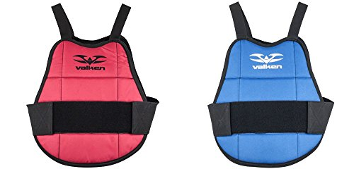 Valken Paintball Chest Protector - Gotcha-Blue/Red Reversibl