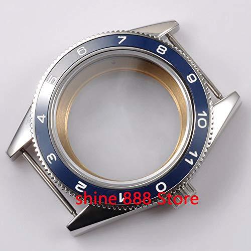 Pukido 41mm blue ceramic bezel sapphire cystal Watch Case fit ETA 2824 2836 MOVEMENT