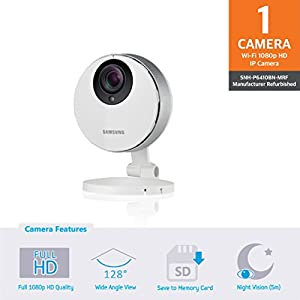 Samsung SNH-P6410BN SmartCam HD Pro Full HD 1080p Wi-Fi Camera (Manufacturer Refurbished)