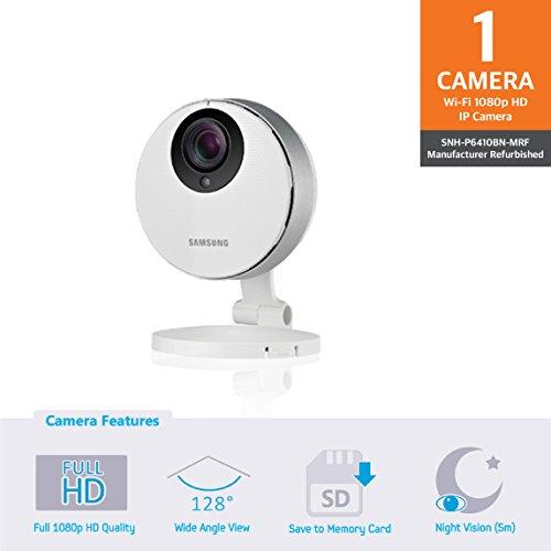 Samsung SNH-P6410BN SmartCam HD Pro Full HD 1080p Wi-Fi Camera (Certified Refurbished)
