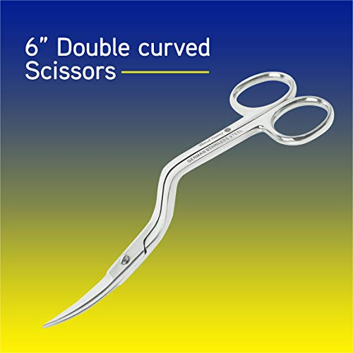 ThreadNanny 6 Inch Double-Curved Machine Embroidery Scissors from