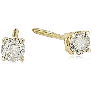 14K Gold Round-Cut Diamond Stud Earring (1/4 – 2 cttw, J-K Color, I2-I3 Clarity)