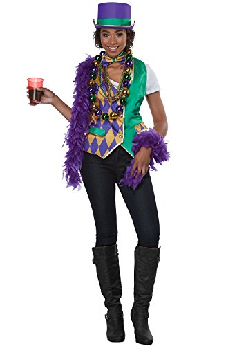 California Costumes Mardi Gras Woman Adult Costume Kit-Small/Medium
