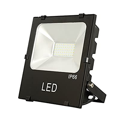 Julitech 10W-200W LED Flood Light, Waterproof IP66, 6500Lm, Super Bright Outdoor LED Flood Lights For Playground, Garage, Garden, Lawn And Yard Model