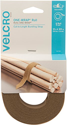 Velcro Brand 91752 One-Wrap: For Cables, Wires & Cords - 12' x 3/4' Roll, Coyote