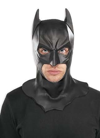 Batman The Dark Knight Adult Batman Full Overhead Latex Mask, Black, One Size