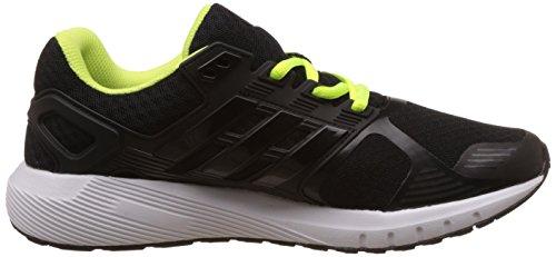 adidas Unisex-Kinder Duramo 8 Laufschuhe Schwarz (Core Black/Footwear White/Solar Yellow)