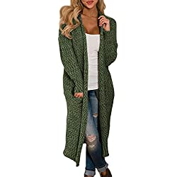 ddf4ff37d81 Dokotoo Womens Cardigans Elegant Winter Loose Casual Long Sleeve Cozy Cable  Knit Open Front Long Chunky. blank - Ladies cardigan sweaters 2019