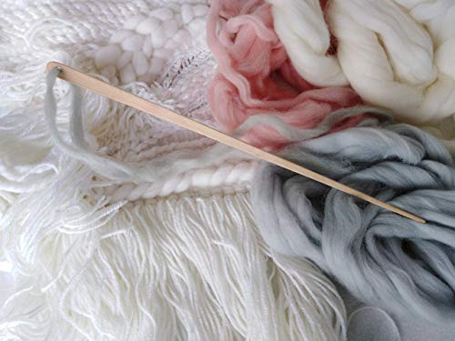 Tapestry Needle Weaving Loom Giant Knitting Extra Long Wood Needle 12 inches Various Size Color from Handiwork Your Love