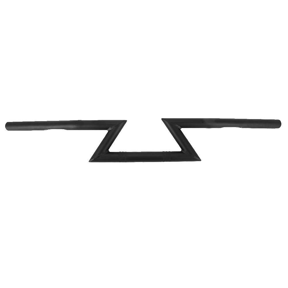 Suuonee Manillar Motorcycle Z Black modificaci/ón universal de arrastre de acero inoxidable retro para motocicletas con manillar de 22 mm