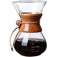 Glass Coffee Pot Coffee Set Hand Made Coffee Pot Filter Free Paper drip Coffee Funnel Filter Cup