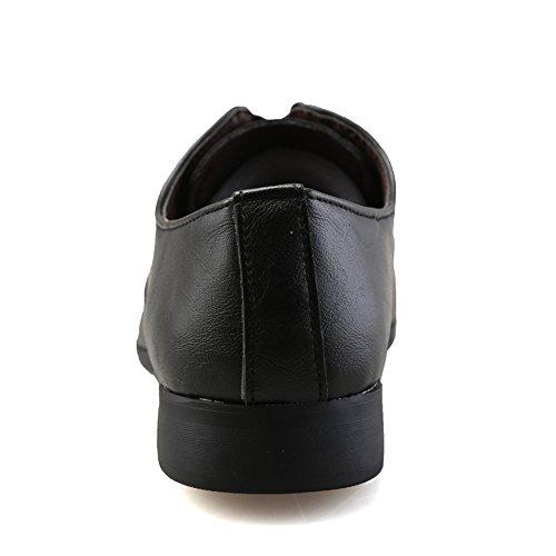 Wersatile Formales Casual Oxford Gby Conducción Ligero Masculina Negro Zapatos Cómodo Calzado Simple Moda De qwzFwR0