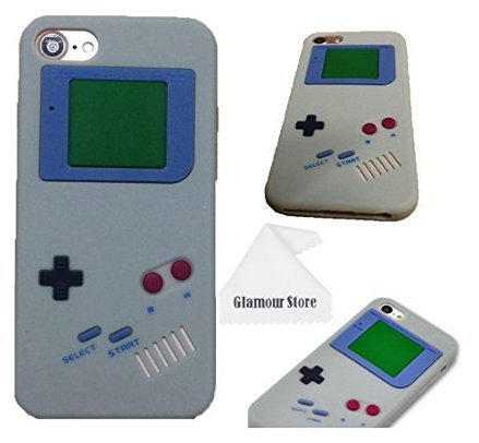Design New Silicone (iPhone 6 Case,Retro 3D Game Boy Gameboy Design Style Soft Silicone Cover Case For New Apple iPhone 6 6G 4.7 inch,Not Fit For Apple iPhone 6 Plus 5.5 inch+ Free Cleaning Cloth As a gift (Gray))