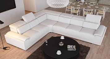 Leder Sofa Italienisches Design Couch Ecksofa Wohnlandschaft Amazon