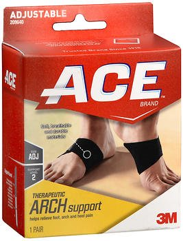 Ace Therapeutic Arch Support Moderate - 1 pr, Pack of 5