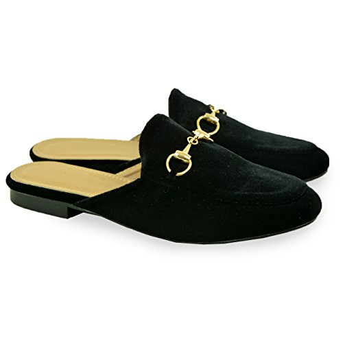 Sandals Shoes Black Ladies On Size Flat Low Uk Slip Toe New Slipper Closed Womens Heel wqBtPUZ