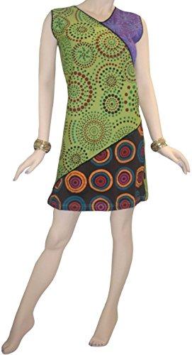 Commerçants Agan R 05 Main Coton Tricot Robe Tunique Brodée Soleil Multi 12