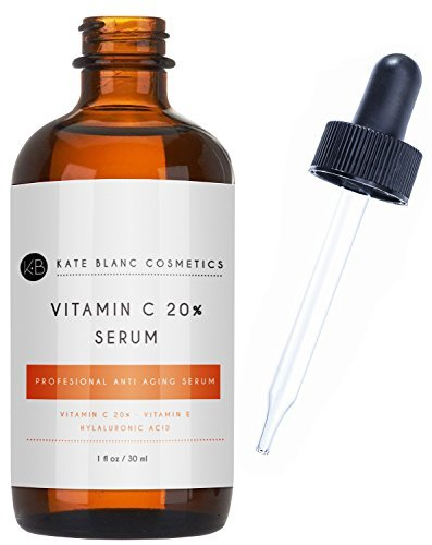 - Vitamin C Serum for Face 20% with Hyaluronic Acid & Vitamin E by Kate Blanc. Anti-aging Facial Oil to Reduce Appearance of Fine Lines, Wrinkles, Dark Spots, Scars, Acne. Tighter, Toned Skin. (1 oz)