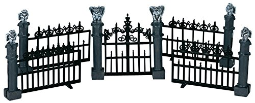 Lemax Miniature Spooky Town Halloween Gargoyle Fence (Set of 5)