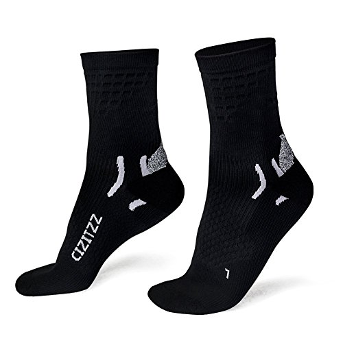 Plantar Fasciitis Socks with Compression for Men Women (12-25 mmHg),Running Compression Socks with Ankle Heel and Arch Support by CIZITZZ