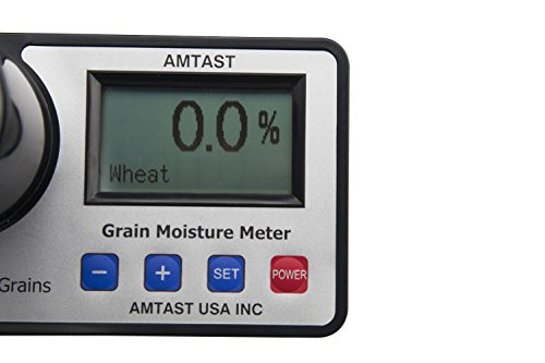 AMTAST Smart Grain Moisture Meter Portable Moisture Tester for 14 Different Kinds Grains Wheat Peanut Coffee Bean Corn Rice Cocoa Bean Moisture Test by AMTAST (Image #2)