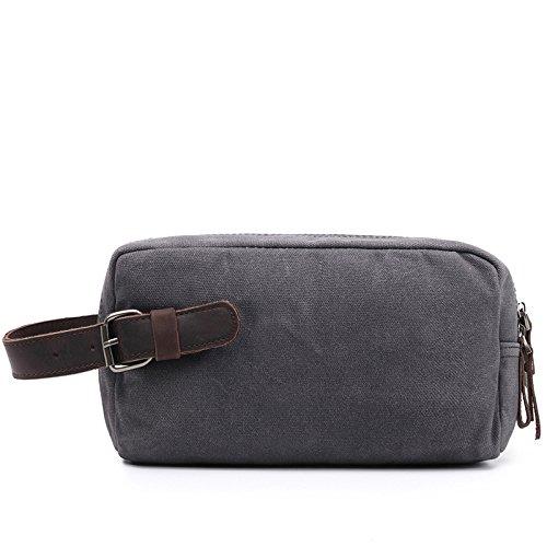 mefly Verano resistente al agua Hombres–Bolso Casual Canvas Bag, gris claro gris claro