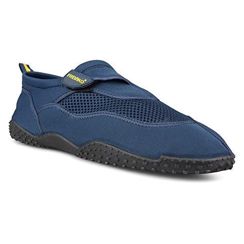 Fresko beschuht athletischen Wasser-Schwimmen-Schuh der Männer für Strand, Flausch-Schließung Marine
