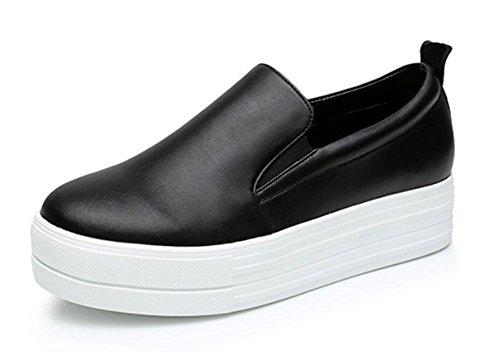 donne Ms dal casual ascensore focaccina CN39 scarpe single scarpe primavera scarpe pesante EU39 scarpe US8 delle UK6 fondo piane 8xqBw5