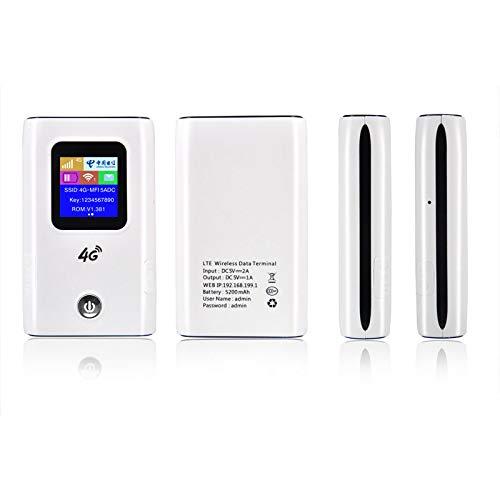 RETYLY 4G WiFi Router Car Hotspot M/óvil Banda Ancha Inal/ámbrica Pocket Mifi Desbloquear LTE M/ódem WiFi Extender Repeater Router