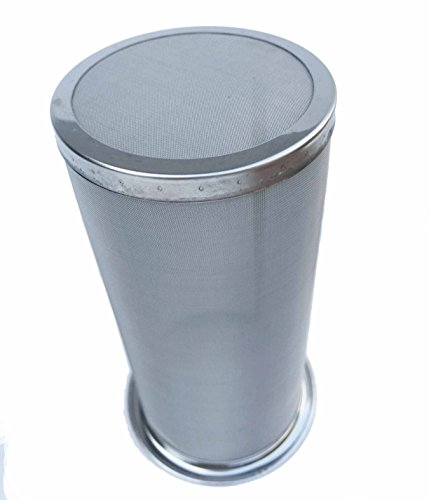 NISPIRA Permanent Stainless Steel Mesh Filter For Quart Mason Jar Cold Brew Coffee Maker and ...