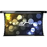 Elite Screens CineTension 2, 128-inch Diagonal 16:10, 4K/8K Tab-Tensioned Electric Drop Down Projection Projector Screen, TE128XW2-E12