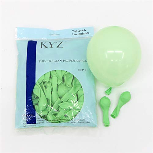 100ps Pastel Latex Balloons 10 Inches Assorted Macaron Candy Colored Latex Party Balloons for Wedding Graduation Kids Birthday Party Christmas Baby Shower Party Supplies Arch (Green, 10inch) -