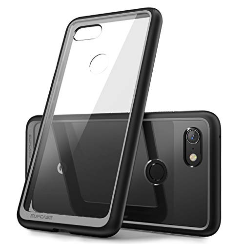 Style Clear Bumper - SUPCASE Unicorn Beetle Style Series Designed for Google Pixel 3a Case, Clear Soft Protective TPU Bumper PC Premium Hybrid Case for Google Pixel 3a 2019 Release (Black)
