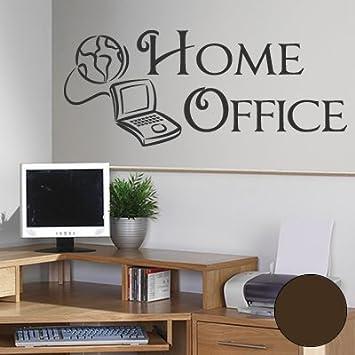 A344 Wandtattoo Home Office 60cm X 25cm Braun Erhaltlich In 40