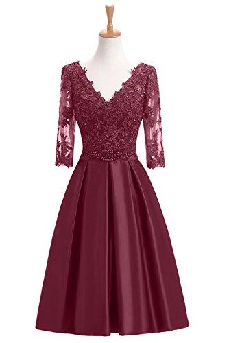 lace 1/2 sleeve wedding dress - 8