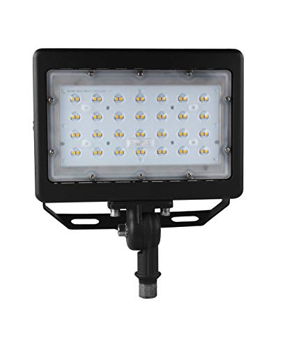 50w Hid Bracket Fixture - Dephen 50W LED Flood Light, 6500Lm LED Work Lights, IP65 Waterproof 5000K Outdoor Security Lighting, Adjustable Bracket-mount and 1/2'' Knuckle-mount, 175W MH, HPS Bulbs Eq.(UL-Listed)