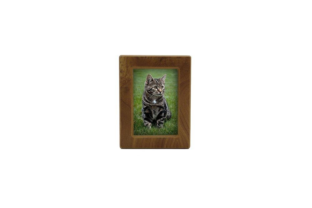 Near & Dear Pet Memorials MDF Photo Urn, 25 Cubic Inch, Natural Finish