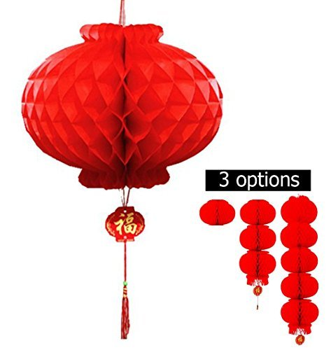 Red Lantern festival decoration For Wedding, New Year ,Chinese Spring Festival ,set of 10.