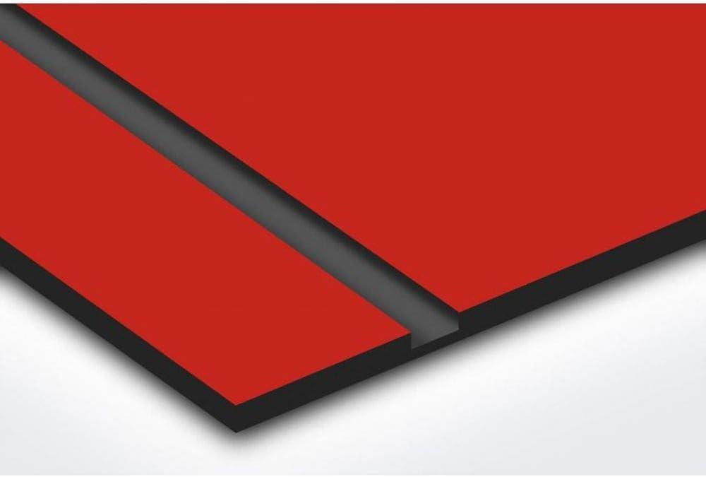 Plaque boite aux lettres format Decayeux TRISKELL 100x25mm grise lettres blanches 1 ligne