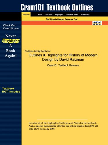 Outlines & Highlights for History of Modern Design by David Raizman