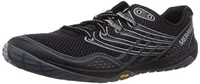Merrell Men's Trail Glove 3 Trail Running Shoe, Black/Light Grey, 7 M US