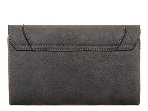 gris moyen noir Pochette Hautefordiva femme pour xOPpXIqn6