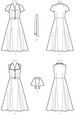 diff/érentes tailles Simplicity S9105 Patron de couture pour robe vintage avec col d/étachable 36-38-38-40-14 H5