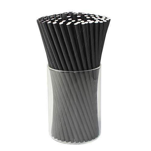 Ideas For A Wedding (Paper Drink Straws Biodegradable Black - Graduation Party Supplies 100 Pcs Eco-frendly Straws Bulk for Birthday | Wedding | Bachelorette | Baby Shower | DIY)