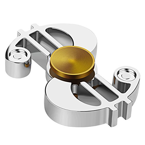Check Out This Fidget Spinner,Can Last for 5 Minutes Bright Metal Style Hand Spinner, Funcorn Toys H...