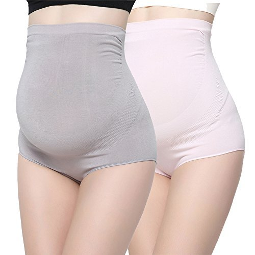 KUCI Bamboo Fiber Maternity Underwear, Women Ultra High Waist Superelastic...