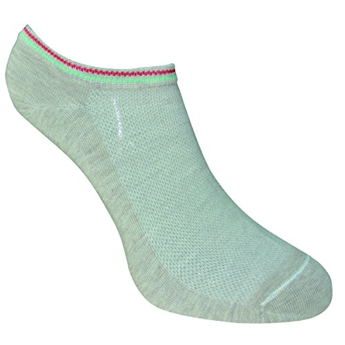 Omas Arte - Girl's essential Cotton Sneaker smoothest Low-Cut Sock Liner Socks No Slip Summer Socks