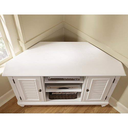 Bermuda White Corner TV Stand by Home