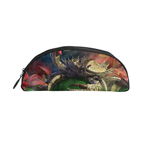 HengZhe Pencil Case Crab Pen Bag Cosmetic Pouch Students Stationery Holder Office Organizer -